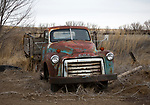 Idaho, south central, Twin Falls, Murtaugh.  An old rusted farm truck.