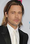 HOLLYWOOD, CA - JANUARY 12: Brad Pitt arrives at the 17th Annual Critics' Choice Movie Awards at Hollywood Palladium on January 12, 2012 in Hollywood, California.