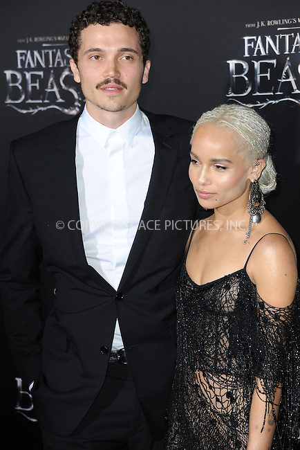www.acepixs.com<br /> November 10, 2016  New York City<br /> <br /> Karl Glusman and Zoe Kravitz attending the 'Fantastic Beasts And Where To Find Them' World Premiere at Alice Tully Hall, Lincoln Center on November 10, 2016 in New York City.<br /> <br /> <br /> Credit: Kristin Callahan/ACE Pictures<br /> <br /> <br /> Tel: 646 769 0430<br /> Email: info@acepixs.com