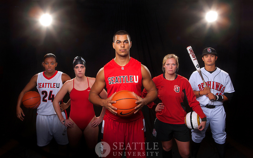 10052011 - Seattle University Athletics Division 1 photo shoot. Seattle U Athletics - On A Mission.