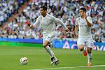 Real Madrid´s James Rodriguez and Cristiano Ronaldo during 2014-15 La Liga match between Real Madrid and Valencia at Santiago Bernabeu stadium in Madrid, Spain. May 09, 2015. (ALTERPHOTOS/Luis Fernandez)