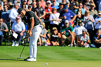 Cameron Champ (USA) on the 2nd green during the 2nd round of the Waste Management Phoenix Open, TPC Scottsdale, Scottsdale, Arisona, USA. 01/02/2019.<br /> Picture Fran Caffrey / Golffile.ie<br /> <br /> All photo usage must carry mandatory copyright credit (© Golffile | Fran Caffrey)