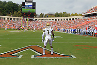 UCLA running back Ishmael Adams during the game in Charlottesville, VA. Virginia lost to UCLA 28-20. Photo/Andrew Shurtleff