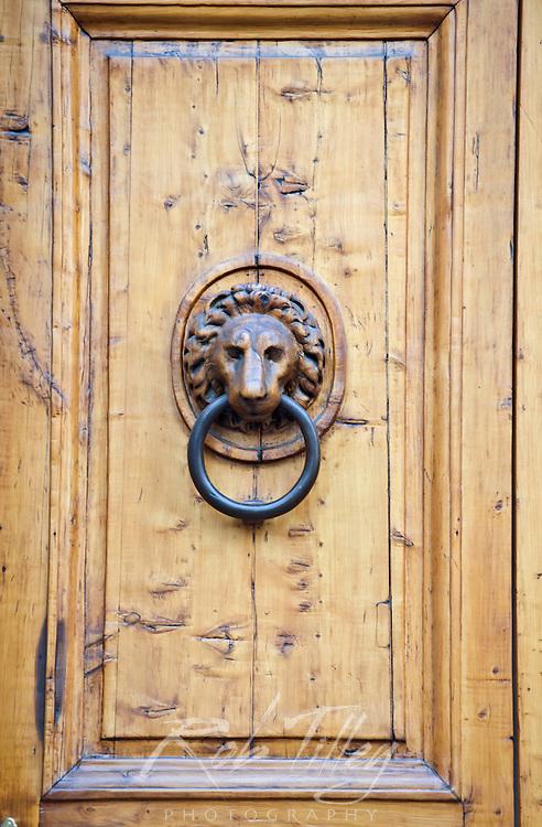 Europe, Italy, Tuscany, Florence, Door Knocker