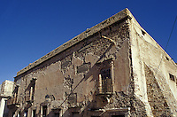 The Casa de la Moneda, the old mint, the 19th-century silver-mining town of Real de Catorce, San Luis Potosi state, Mexico. Real de Catorce became a virtual ghost town during the early part of the 20th century. It has recently become a popuar destination for travellers.