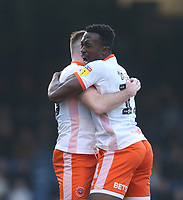 Blackpool's Oliver Turton celebrates scoring his side's first goal with Joe Dodoo<br /> <br /> Photographer Rob Newell/CameraSport<br /> <br /> The EFL Sky Bet League One - Southend United v Blackpool - Saturday 17th November 2018 - Roots Hall - Southend<br /> <br /> World Copyright &copy; 2018 CameraSport. All rights reserved. 43 Linden Ave. Countesthorpe. Leicester. England. LE8 5PG - Tel: +44 (0) 116 277 4147 - admin@camerasport.com - www.camerasport.com