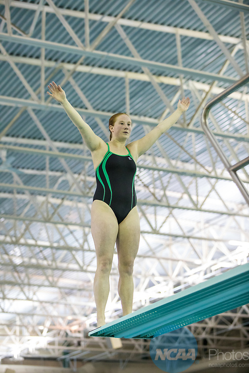 BIRMINGHAM, AL - MARCH 11: Elizabeth Rawlings of Wayne State prepares to dive during the Division II Men's and Women's Swimming & Diving Championship held at the Birmingham CrossPlex on March 11, 2017 in Birmingham, Alabama. Rawlings came in second with a score of 485.15. (Photo by Matt Marriott/NCAA Photos via Getty Images)