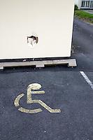 Wheelchair parking, Tauranga 2008