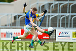Conor Cox Kerry in action against Michael Flood Meath in the All Ireland Junior Football Final at O'Moore Park, Portlaoise on Saturday.
