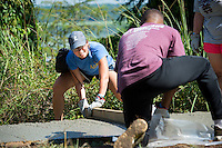 Service DAWGS Day: Pouring Concrete at the Noxubee Refuge.<br />