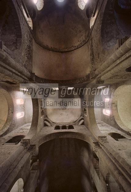 Europe/France/Auverne/63/Puy-de-Dôme/Orcival: La basilique Notre-Dame - Voute du transept