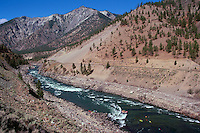 Thompson River near Spences Bridge, BC, British Columbia, Canada - White Water / Whitewater Rafting and Kayaking