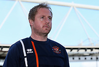 Blackpool U18's Head of Academy Coaching Ian Dawes <br /> <br /> Photographer Andrew Kearns/CameraSport<br /> <br /> Emirates FA Youth Cup Semi- Final Second Leg - Arsenal U18 v Blackpool U18 - Monday 16th April 2018 - Emirates Stadium - London<br />  <br /> World Copyright &copy; 2018 CameraSport. All rights reserved. 43 Linden Ave. Countesthorpe. Leicester. England. LE8 5PG - Tel: +44 (0) 116 277 4147 - admin@camerasport.com - www.camerasport.com