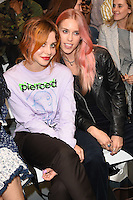 Billie JD Porter and Lady Mary Charteris<br /> at the Ashley Williams catwalk show as part of London Fashion Week SS17, Brewer Street Carpark, Soho London<br /> <br /> <br /> ©Ash Knotek  D3155  16/09/2016