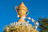 """Subway Restaurants float in the 121st Tournament of Roses Parade, """"Where Winners Eat."""" champions, Winners"""