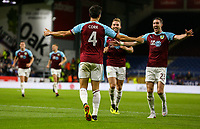 Burnley's Jack Cork celebrates scoring his side's first goal with teammates<br /> <br /> Photographer Alex Dodd/CameraSport<br /> <br /> UEFA Europa League - Third Qualifying Round 2nd Leg - Burnley v Istanbul Basaksehir - Thursday 16th August 2018 - Turf Moor - Burnley<br />  <br /> World Copyright © 2018 CameraSport. All rights reserved. 43 Linden Ave. Countesthorpe. Leicester. England. LE8 5PG - Tel: +44 (0) 116 277 4147 - admin@camerasport.com - www.camerasport.com