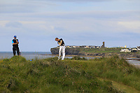 David Foy (Laytown &amp; Bettystown) on the 12th tee during Round 3 of The South of Ireland in Lahinch Golf Club on Monday 28th July 2014.<br /> Picture:  Thos Caffrey / www.golffile.ie