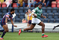 Nemani Nagusa of Newcastle Falcons runs in a try in the second half. Pre-season friendly match, between Doncaster Knights and Newcastle Falcons on August 25, 2018 at Castle Park in Doncaster, England. Photo by: Patrick Khachfe / Onside Images