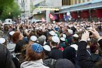Germany, Berlin, 2018/04/25<br /> <br /> BERLIN TRÄGT KIPPA (Berlin wears kippah) – demonstration for tolerance and against antisemitism on 25/04/2018 at Gemeindehaus der Jüdischen Gemeinde Berlin. (Photo by Gregor Zielke)