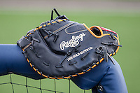 Rawlings first base glove on May 3, 2016 at Ray Fisher Stadium in Ann Arbor, Michigan. (Andrew Woolley/Four Seam Images)