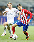 Real Madrid's Luka Modric (l) and Atletico de Madrid's Yannick Ferreira Carrasco during UEFA Champions League 2015/2016 Final match.May 28,2016. (ALTERPHOTOS/Acero)