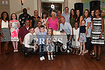 Tony and Kathleen Matthews celebrating their 50th wedding anniversary with their family in The Thatch. Photo:Colin Bell/pressphotos.ie