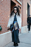Yasmin Daguilh attends Day 2 of New York Fashion Week on Feb 13, 2015 (Photo by Hunter Abrams/Guest of a Guest)