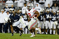 STATE COLLEGE, PA - SEPTEMBER 29: Ohio State RB J.K. Dobbins (2) runs in open field. The Ohio State Buckeyes defeated the Penn State Nittany Lions 27-26 on September 29, 2018 at Beaver Stadium in State College, PA. (Photo by Randy Litzinger/Icon Sportswire)