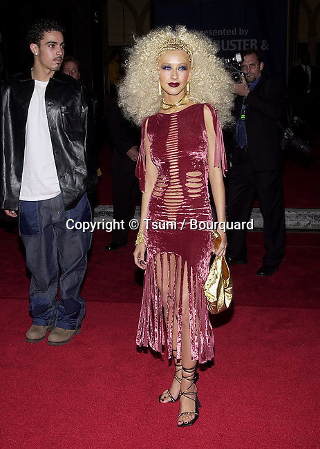 Christina Aguilera arriving at the 7th Annual Blockbuster Entertainment Awards  at the Shrine Auditorium in Los Angeles  4/10/2001 101_AguileraChristina41.JPG