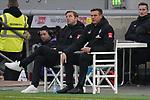 18.01.2020, Merkur Spielarena, Duesseldorf , GER, 1. FBL,  Fortuna Duesseldorf vs. SV Werder Bremen,<br />  <br /> DFL regulations prohibit any use of photographs as image sequences and/or quasi-video<br /> <br /> im Bild / picture shows: <br /> Florian Kohfeldt Trainer / Headcoach (Werder Bremen) auf ddm Stuhl wegen Fussverletzung <br /> <br /> Foto © nordphoto / Meuter