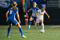 Allston, MA - Wednesday Sept. 07, 2016: Natasha Dowie, Jaelene Hinkle during a regular season National Women's Soccer League (NWSL) match between the Boston Breakers and the Western New York Flash at Jordan Field.