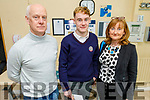 Emmett Cronin from Killarney with his parents Paul and Ann Cronin attending the Kerry College open day at the Clash Campus.
