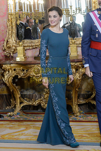 MADRID, SPAIN-January 06: Queen Letizia and King Felipe attend the military eastern at the Royal Palace in Madrid, Spain January06, 2017. <br /> CAP/MPI/JOL<br /> &copy;JOL/MPI/Capital Pictures