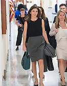 """Lisa Page, legal counsel to former FBI Director Andrew McCabe arrives """"for a transcribed interview"""" before the United States House Judiciary Committee on Capitol Hill in Washington, DC on Friday, July 13, 2018. Page is considered to be a key witness by the committee for her role with Peter Strzok and decisions made by the Department of Justice and the FBI in the months before the 2016 Presidential election.<br /> Credit: Ron Sachs / CNP<br /> (RESTRICTION: NO New York or New Jersey Newspapers or newspapers within a 75 mile radius of New York City)"""