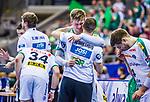 Franz SEMPER (#3 SC DHfK Leipzig) \Andre HABER (Trainer SC DHfK Leipzig) \ beim Spiel in der Handball Bundesliga, SG BBM Bietigheim - SC DHfK Leipzig.<br /> <br /> Foto &copy; PIX-Sportfotos *** Foto ist honorarpflichtig! *** Auf Anfrage in hoeherer Qualitaet/Aufloesung. Belegexemplar erbeten. Veroeffentlichung ausschliesslich fuer journalistisch-publizistische Zwecke. For editorial use only.