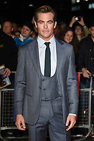 "Chris Pine<br /> arriving for the London Film Festival screening of ""Outlaw King"" at the Cineworld Leicester Square, London<br /> <br /> ©Ash Knotek  D3446  17/10/2018"
