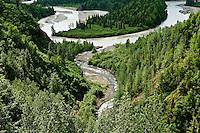 Braided river, Alaska, AK, USA