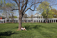 Garden and architecture at the University of Virginia April 24, 2009 in Charlottesville, Virginia. (Photo/Andrew Shurtleff)
