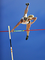NWA Media/Michael Woods --05/29/2014-- w @NWAMICHAELW...University of Arkansas pole vaulter Sandi Moris clears the bar during the women's pole vault Thursday afternoon during the 2014 NCAA Division 1 Track and Field West Preliminary track meet at John McDonnell Field in Fayetteville.