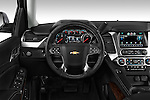 Steering wheel view of a 2015 Chevrolet Suburban 2WD 1500 LT 5 Door SUV