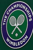 England, London, 27.06.2014. Tennis, Wimbledon, AELTC, Wimbledon logo<br /> Photo: Tennisimages/Henk Koster