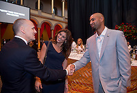 Hope Solo, Jerramy Stevens. US Soccer held their Centennial Gala at the National Building Museum in Washington DC.