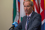 Security Council President for Briefs Press<br /> Olof Skoog, Permanent representative of Sweden to the United Nations and President of the Security Council for the month of July, briefs journalists.