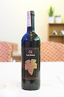 Bottle of Isak Delvine Merlot Tirana capital. Albania, Balkan, Europe.