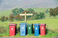 Recycling bins in the countryside......John Eveson, Dinkling Green Farm, Whitewell, Clitheroe, Lancashire. BB7 3BN.01995 61280. 07973 482705.j.r.eveson@btinternet.com.www.johneveson.com