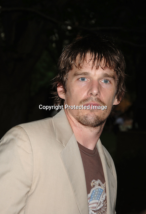 Ethan Hawke..arriving at The Public Theatre's Summer Gala honoring Kevin Kline and Meryl Streep at The Opening NIght of MacBeth at Shakespeare in the Park on June 28, 2006. ..Robin Platzer, Twin Images