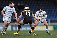 Jimmy Stevens in possession. Aviva Premiership match, between London Wasps and London Irish on February 15, 2014 at Adams Park in High Wycombe, England. Photo by: Patrick Khachfe / JMP