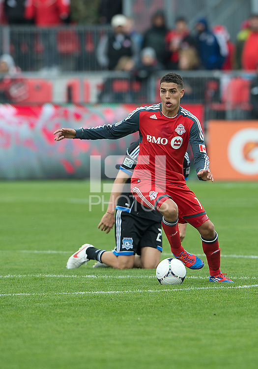 24 March 2012: Toronto FC midfielder Luis Silva #11 in action during a game between the San Jose Earthquakes and Toronto FC at BMO Field in Toronto..The San Jose Earthquakes won 3-0..