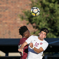Allston, Massachusetts - October 10, 2017: NCAA Division I. Boston College (maroon) defeated Harvard University (white), 3-1, at Jordan Field.