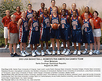 2 August 2003: USA Basketball Women's Pan American Games Team: Nicole Powell.